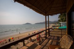 Magic World Palolem Beach Beachfront Bungalow Balcony View