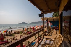 Magic World Palolem Beach Beachfront Bungalow Balcony View 2