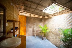Surya Cafe and Huts Sea View Beach Hut Bathroom