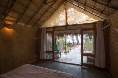 Surya Cafe and Huts Sea View Beach Hut Bedroom View