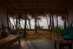 Surya Cafe and Huts Beachfront Hut Balcony View