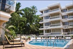 Ocean Palms Resort Pool View Calangute Beach Goa. -