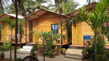 The Spring Cottages Deluxe AC Sea View Cottages Calangute Beach Goa. -
