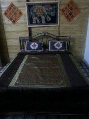 The Spring Cottages Deluxe AC Sea View Cottages Bedroom Calangute Beach Goa.