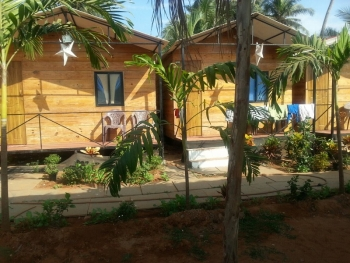The Spring Cottages Deluxe AC Garden View Cottages Calangute Beach Goa.