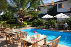 Santana Beach Resort Pool Side Restaurant Candolim Beach Goa. -