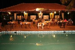 Santana Beach Resort Pool Bar Candolim Beach Goa.