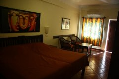 10.Chalston Beach Resort Large Deluxe AC Room Bedroom  Calangute  Beach Goa. -