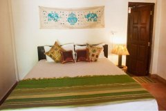 Little India Beach Cottages Standard Room Bedroom Calangute Beach Goa.