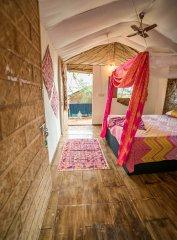 Fusion Agonda Deluxe Hut Interior Agonda Beach Goa.