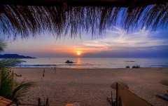 Fusion Agonda View From The Balcony of Deluxe Hut Agonda Beach Goa. -