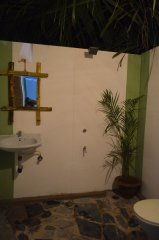 Fusion Agonda Deluxe Hut Bathroom Agonda Beach Goa. -