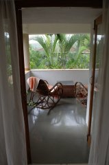 Assagao Villa A1 Master Bedroom Balcony near Anjuna Beach Goa. -