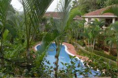 Assagao Villa A1 Upstairs Balcony Lounge View near Anjuna Beach Goa. -