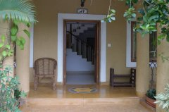 Assagao Villa A1 Front Balcony near Anjuna Beach Goa. -