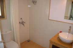 Assagao Villa A7 Downstairs Bedroom Bathroom near Anjuna Beach Goa. -