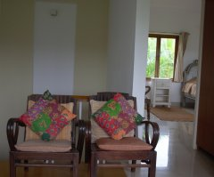 Assagao Villa A7 Upstair Lounge Bedroom near Anjuna Beach Goa.