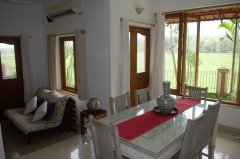 Assagao Villa A7 Dining Leaving Room near Anjuna Beach Goa. -