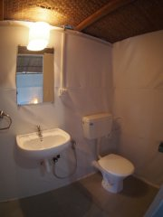 Crystal Goa Bungalows Bathroom Palolem Beach Goa.