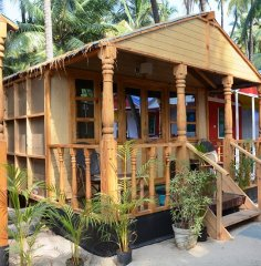 Neptune Point Beach Resort  Sea View Premium Cottage Palolem Beach Goa. -