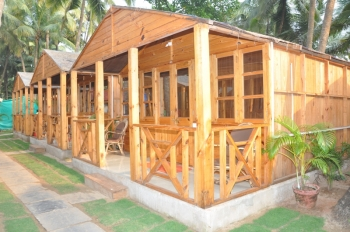 Sand Sapphire Non-AC Sea View  Cottages Agonda Beach Goa. -