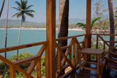Neptune Point Hill Top Resort  Sea View Cottages Balcony View Colomb Beach South Goa.