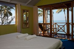 Neptune Point Hill Top Resort View From Sea View Cottages Bedroom Colomb Beach South Goa.