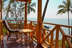 Neptune Point Hill Top Resort  Sea View Cottages Balcony Colomb Beach South Goa.