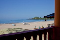 Beachfront Hut - Chillies Patnem Goa - Balcony view - View from balcony of the Beachfront Hut at Chillies beach Resort in Goa