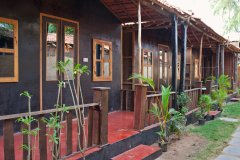 Chillies Patnem Beach - Garden View Hut - Line of Garden View Huts - Chillies Patnem